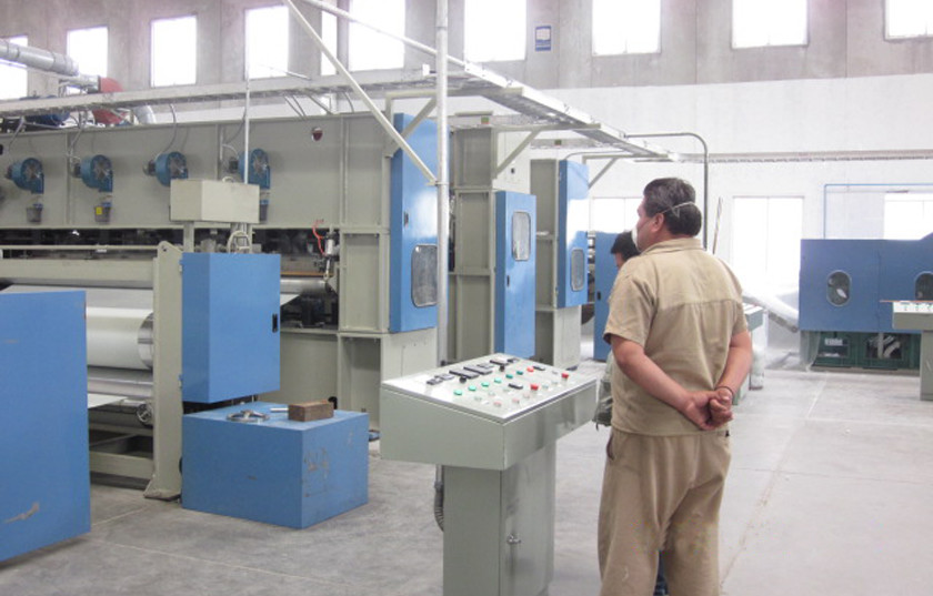 Needle Punched Nonwoven Fabric Making Machine For Shopping Bag 100-350kw