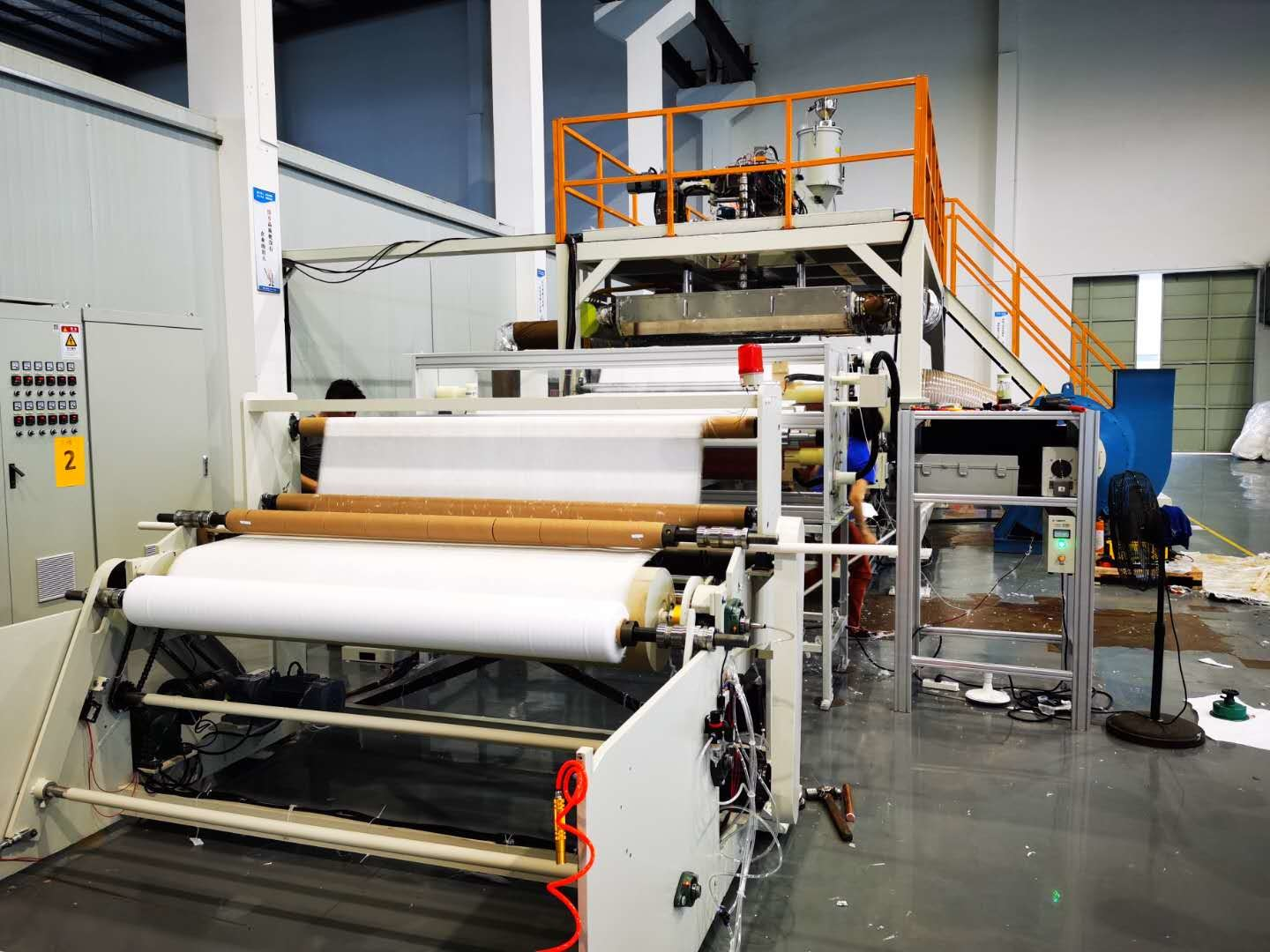 150gsm 160cm Non Woven Fabric Manufacturing Machine For Air Filltration